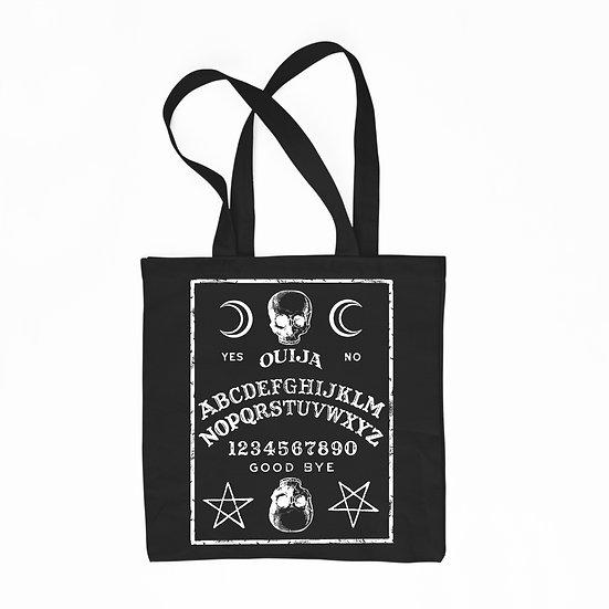 Black cotton tote bag Ouija