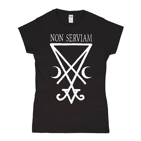 Non Serviam women black T-shirt