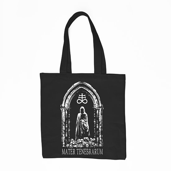 Black cotton tote bag Tenebrarum