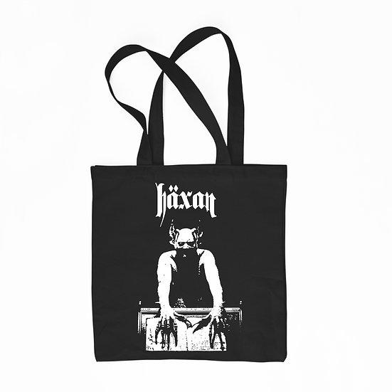 Häxan black cotton tote bag