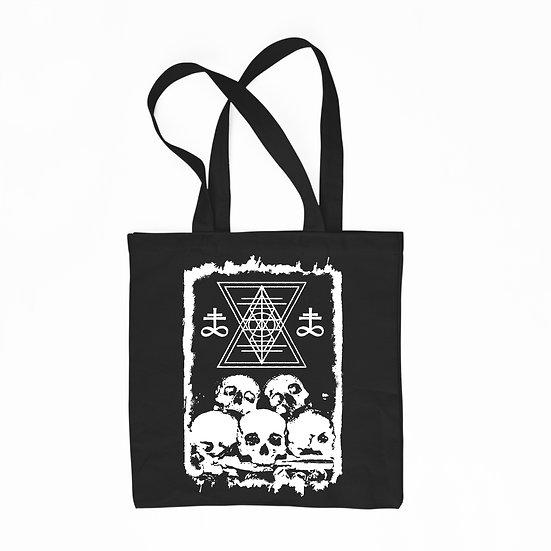 Black cotton tote bag Ossuary
