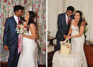 Rachael and Abi's wedding day