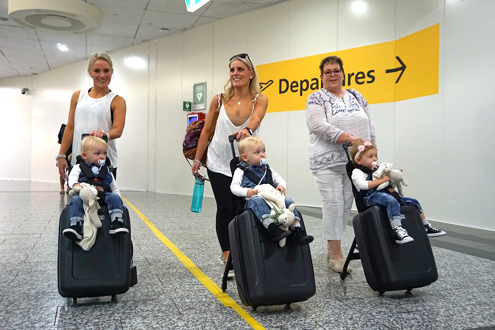 Travelling with toddler triplets