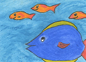 big fish little fish ACEO.jpg