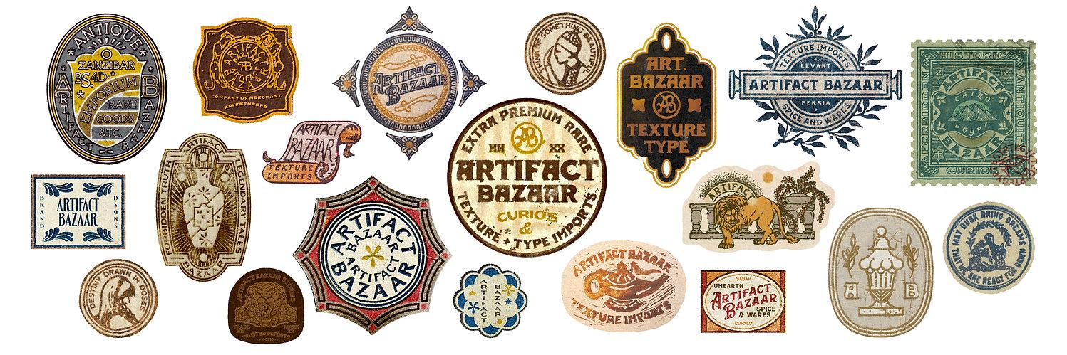 Vintage Label Badge Stamp Collection.jpg