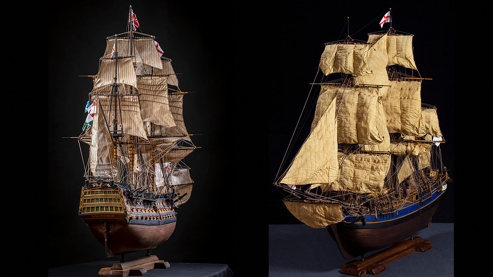 Here, I show my technology of making sails for scale sailboat models: I like three-dimensional (wind-filled) sails... With wrinkles in the corners of the sails...
