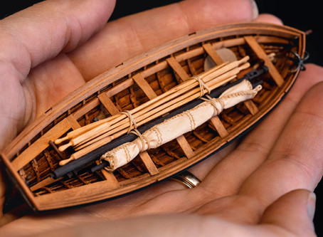 Clinker boat for the model of the French cutter Le CERF (1779-1780) in scale 1:48 - SCRATCH-BUILT