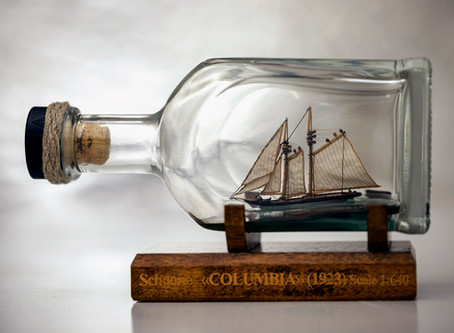 Schooner COLUMBIA (1923) in a bottle...