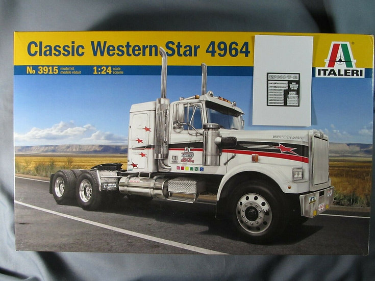 Italeri #3915 Classic Western Star with etched metal logos.