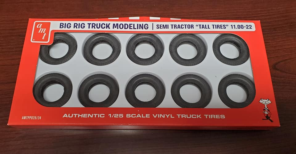 """AMT #028 semi tractor """"tall tires""""."""