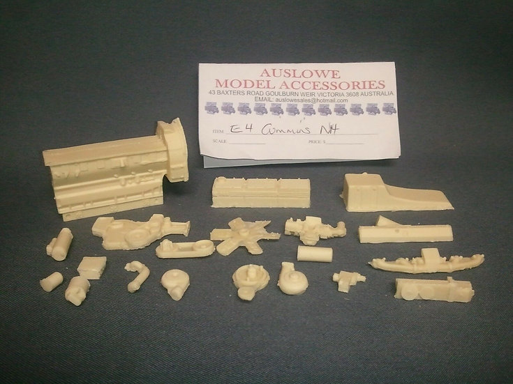 Auslowe #E4 - Resin cast Cummins N14 engine kit. 1/25th scale.