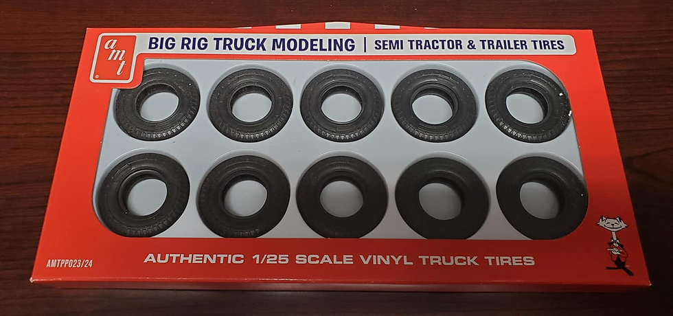 AMT #023 - Semi tractor and trailer tires.