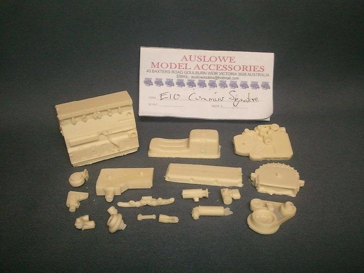 Auslowe #E10 - Resin cast Cummins Signature engine kit. 1/25th scale.