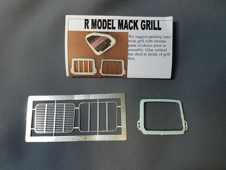 Auslowe #ET4 Mack etched metal & resin R Model standard grill.
