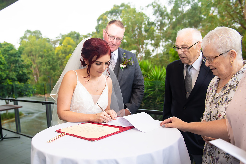 Grandparents as marriage witnesses