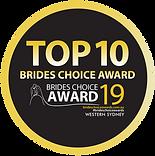 Celebrant Top 10 Brides Choice Award 2019, Western Sydney