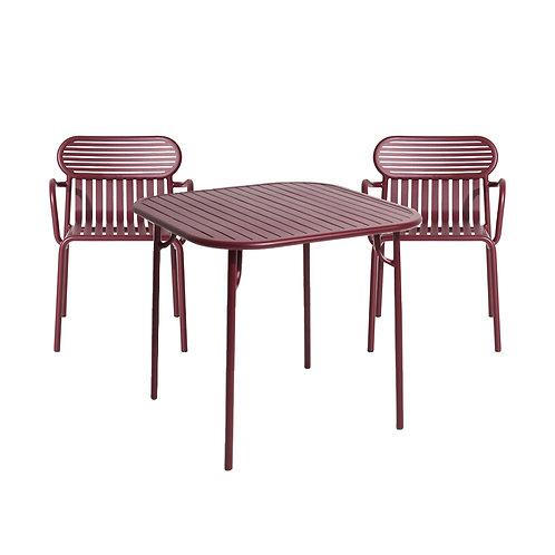 OUTDOOR PETIT FRITURE Week-end Set, Tisch mit zwei Stühlen