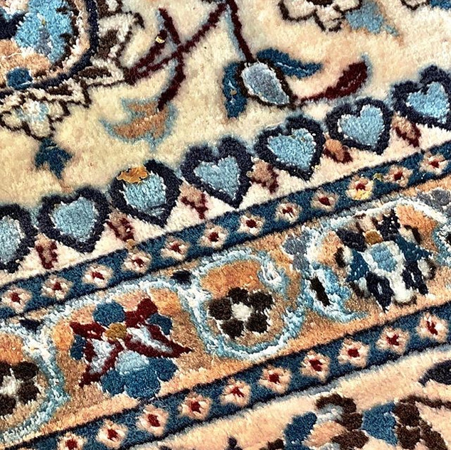 The stunning carpet in the lounge at Jum