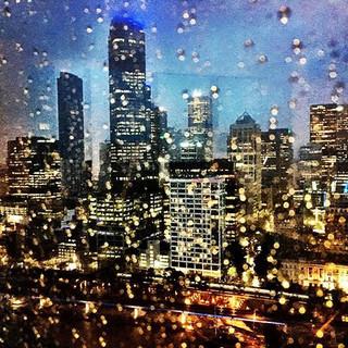 Melbourne in the rain. Breaking the summ