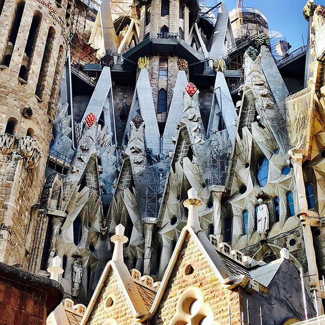 Gaudi's La Sagrada Familia- dramatic, ma
