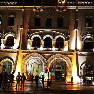 The Lisbon train station at night... stu