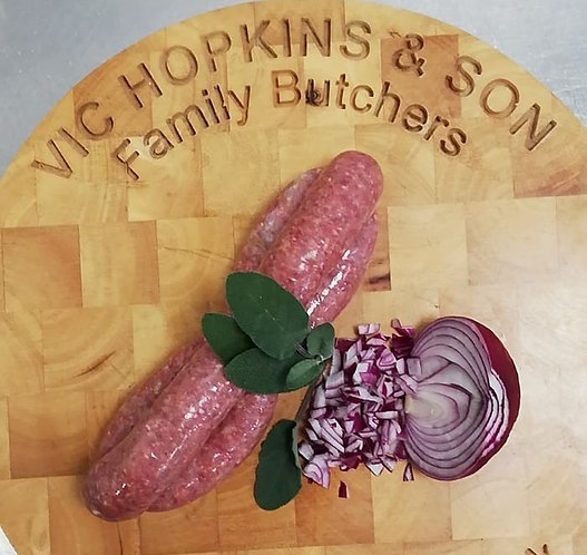 Rose Veal, Red Onion & Sage Sausages (Pack of 6)