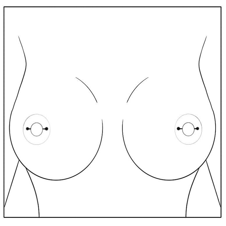 Double Nipple Piercing