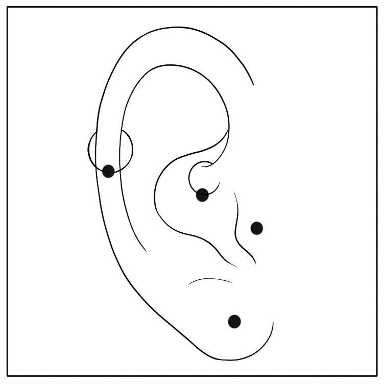 Single Ear Piercing