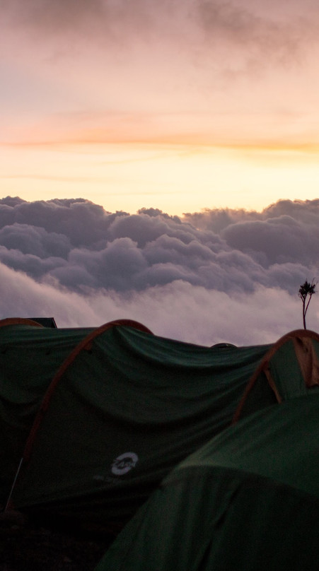 Tents in the clouds