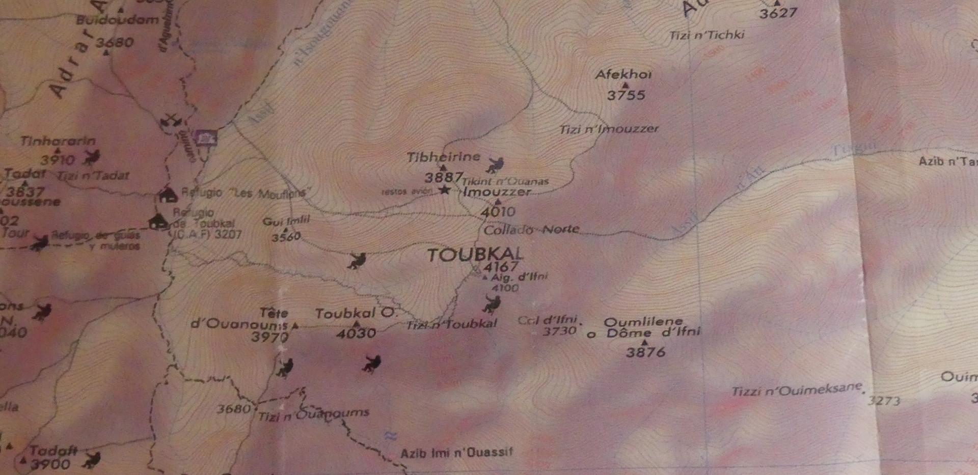 Toubkal Map
