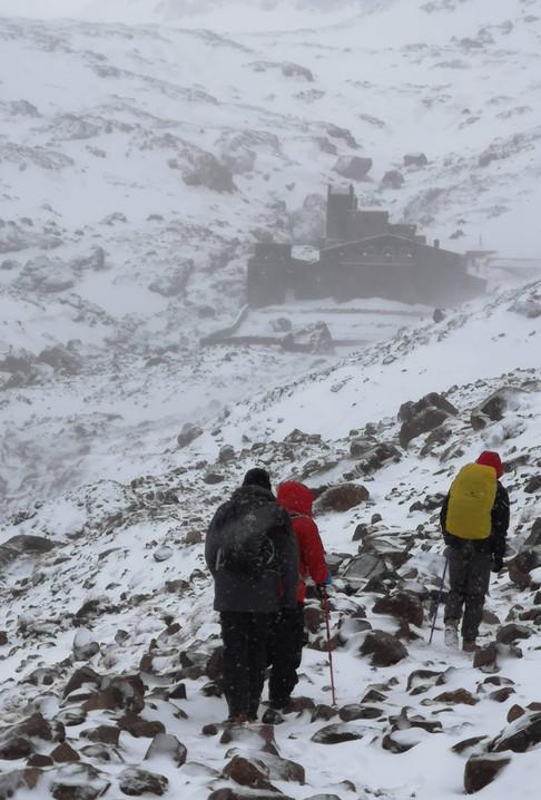 Approaching Mouflon refuge