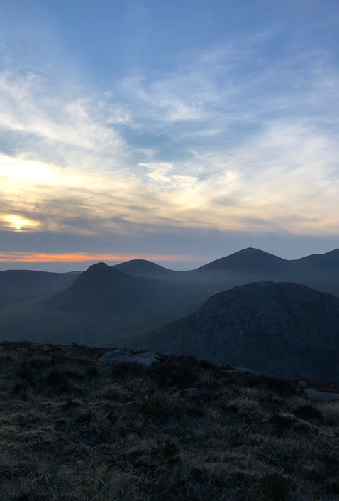 Sunset in the Mournes