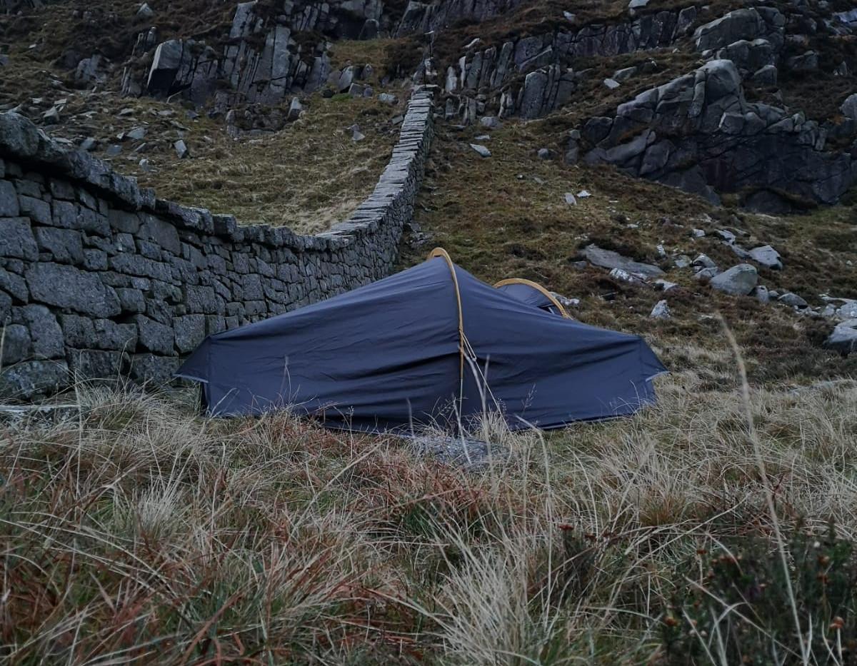 Camping at Hare's gap