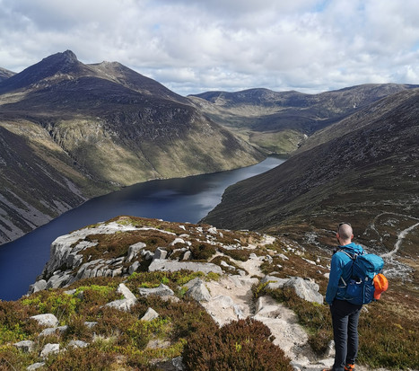 Looking out to Ben Crom