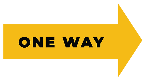 One Way Arrow Stickers - Pack of 5