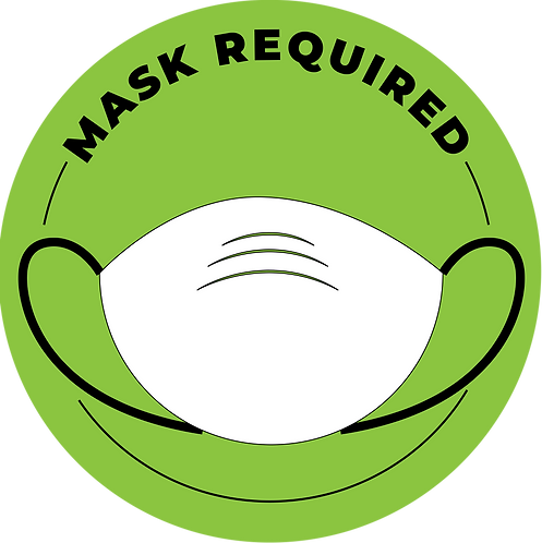 """""""Mask Required"""" Stickers - Pack of 5"""