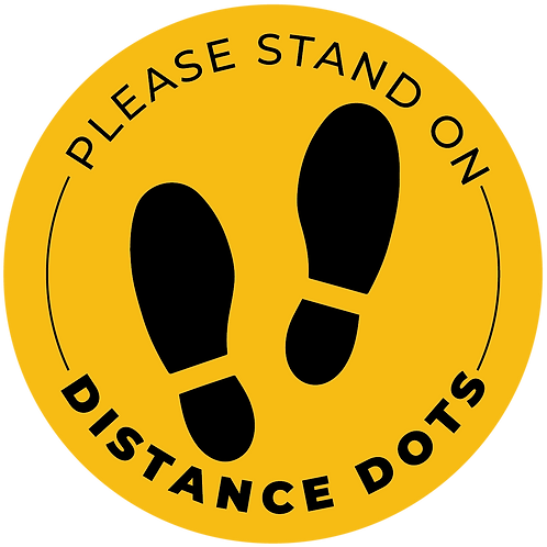 """""""Distance Dots"""" Distancing Reminder Stickers - Pack of 5"""