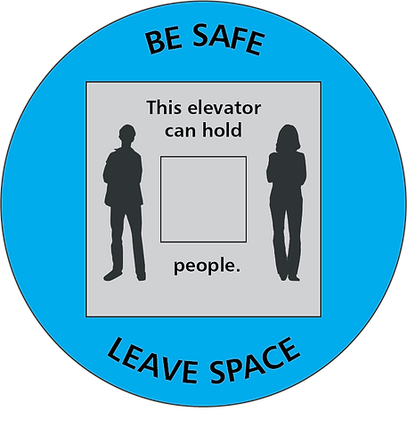 Elevator Distancing Graphic - 5 pack