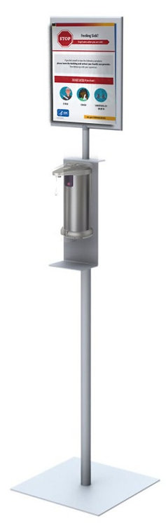 Basic Hand Sanitizer Stand with Graphic Frame & Graphic