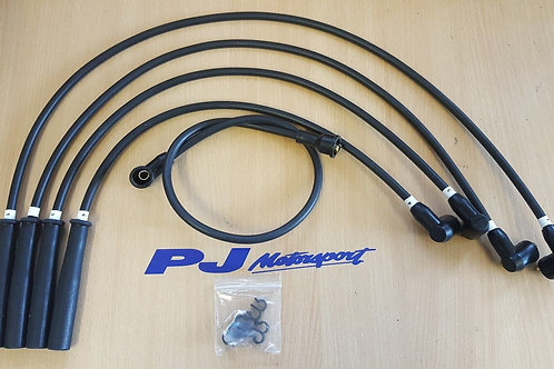 ESCORT RS TURBO UPRATED SPARK PLUG LEADS IGNITION LEADS BLACK WITH LEAD TIDY KIT