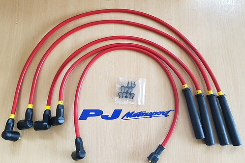 ESCORT RS TURBO UPRATED SPARK PLUG LEADS IGNITION LEADS RED WITH LEAD TIDY KIT