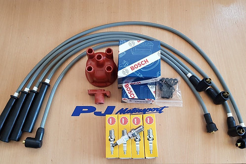 ESCORT RS TURBO UPRATED SPARK PLUG LEADS IGNITION LEADS BOSCH CAP ROTOR NGK PLUG