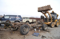 Defender stripped chassis