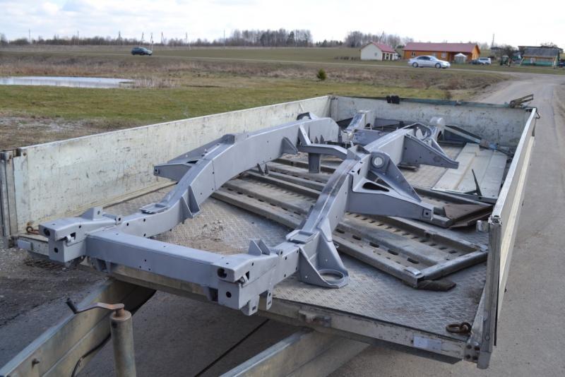 Defender chassis sandblasted