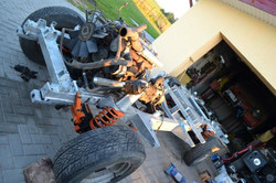 Defender galvanized rolling chassis