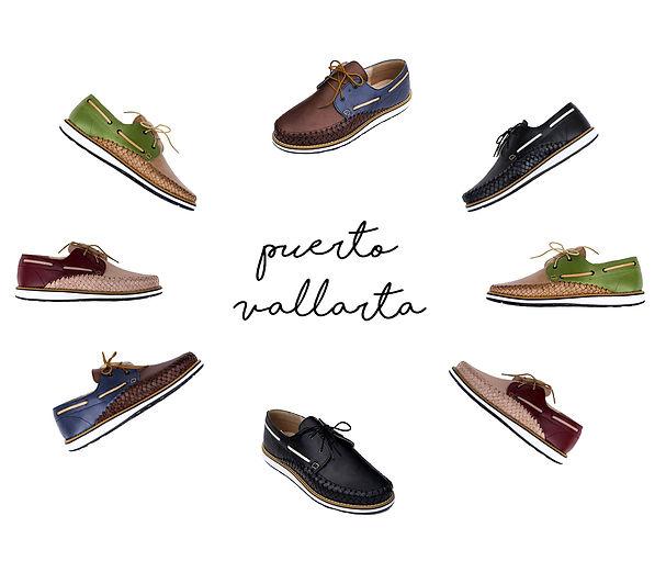 Chaussures cuir tressé mexique france artisanat fait-main homme bateau marin collection puerto vallarta