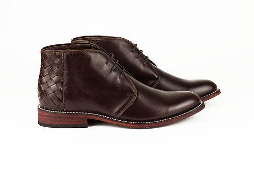 Talpa burgundy mexican men boots handmade hand braided velvet leather mexico paris france santiag cowboy desert boots