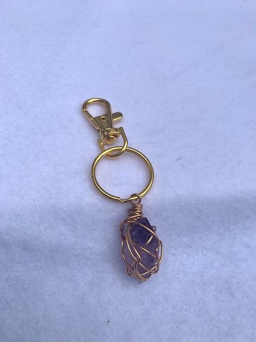 Amethyst Keychain