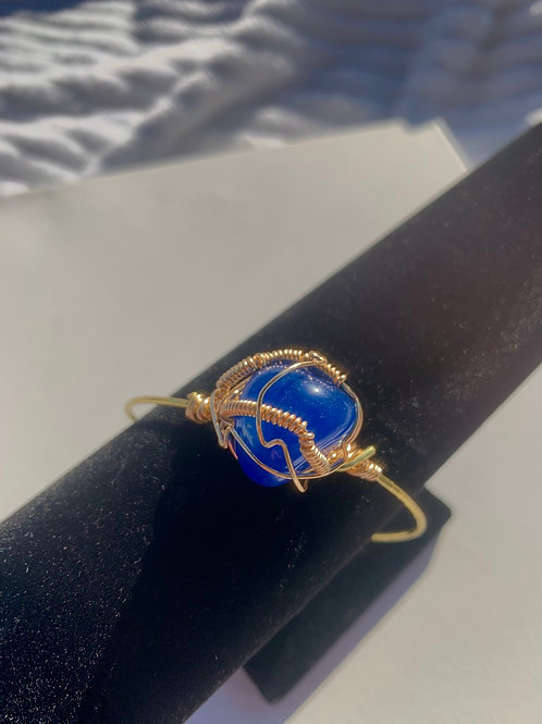 Blue onyx Bangle