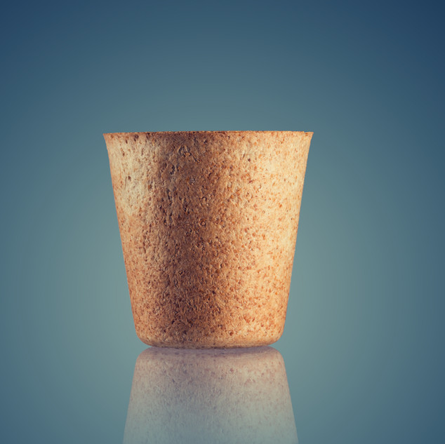 Edible biodegradable cup